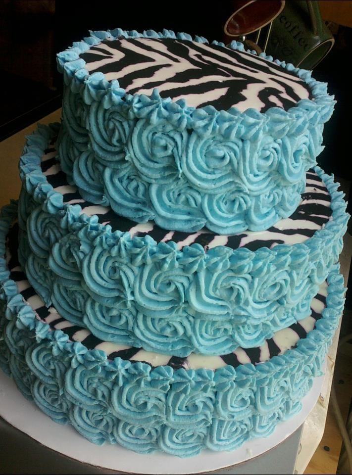 Blue Swirl Zebra Cake | Zebra | Pinterest