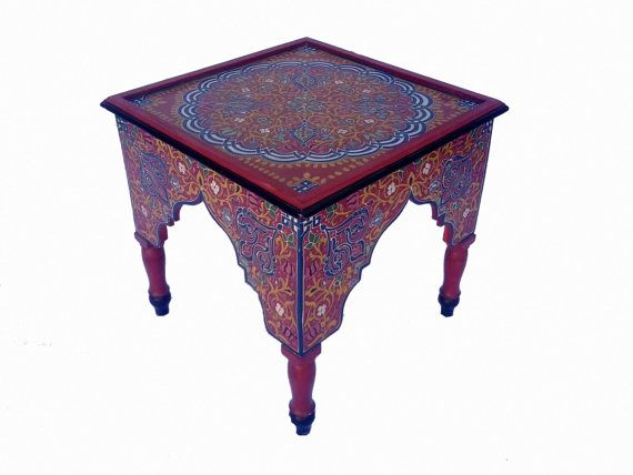 Beautiful Moroccan Mini Coffee Table Handcrafted By MoroccanTribal