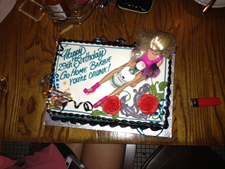 Drunk Barbie BIrthday Cake For My Wife! !!!*LOL ...