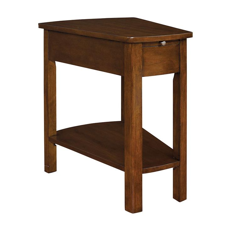 Small Spaces Brown Wedge End Table Id 344 Project Pinterest