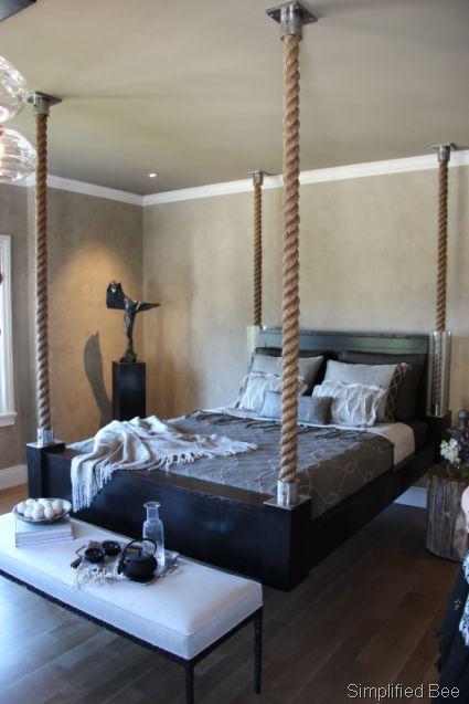 Hanging bed bedroom ideas pinterest for Hanging mattress