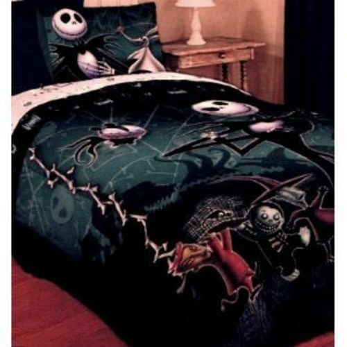 Nightmare Before Christmas Full Queen Comforter Jack Skellington Lock ...