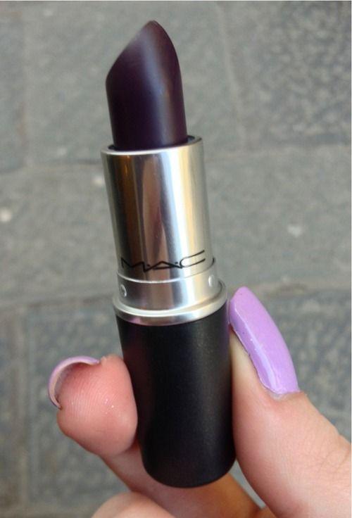 Dark plum Mac lipstick | Lipstick obsession | Pinterest