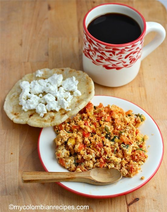 Eggs With Scallions And Tomatoes Recipe — Dishmaps