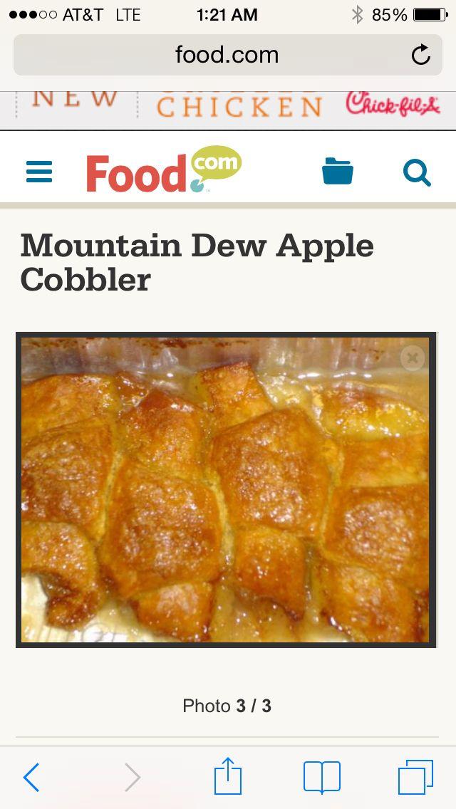 Mountain Dew Apple Cobbler | Recipe