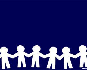 Muñecos de Papel Plantilla de PowerPoint para educación de niños o psicología infantil