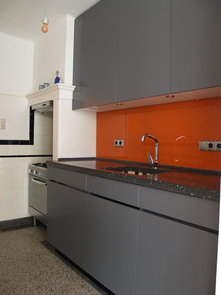 Best Grey And Orange Kitchen Kitchen Dreams Pinterest 400 x 300