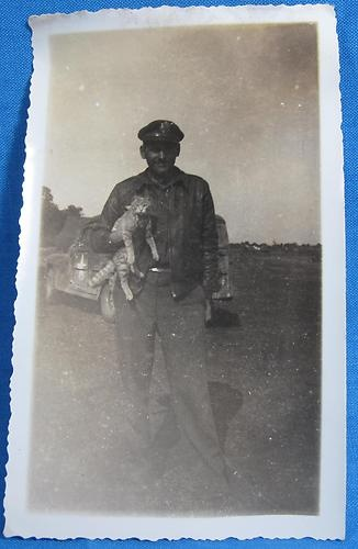 WWII US Army Air Force 66th Fighter Squadron Soldier Cat Car Photo Italy 1944 | eBay