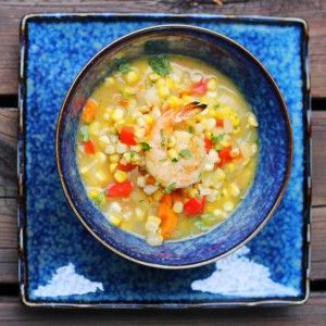 Roasted corn chowder with grilled shrimp | Cooking & Baking | Pintere ...