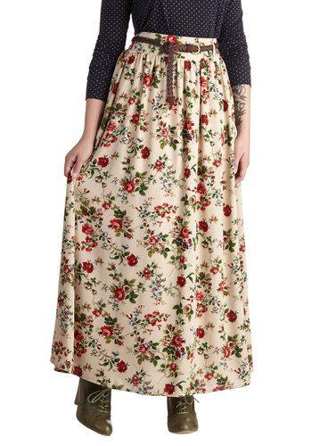Pastoral History Skirt, #ModCloth
