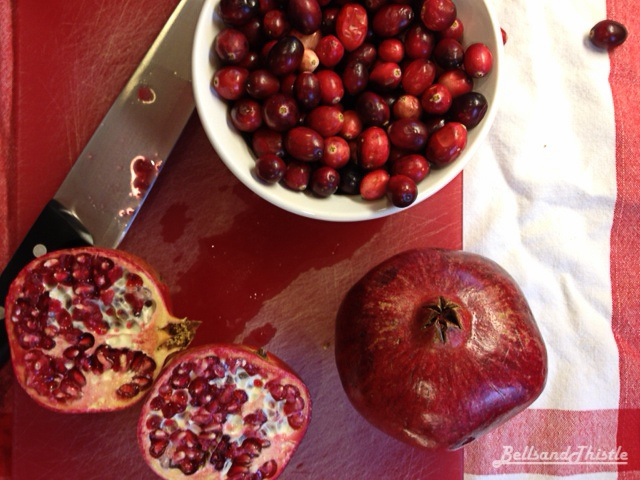 Cranberry & Pomegranate Sauce - great with leftovers