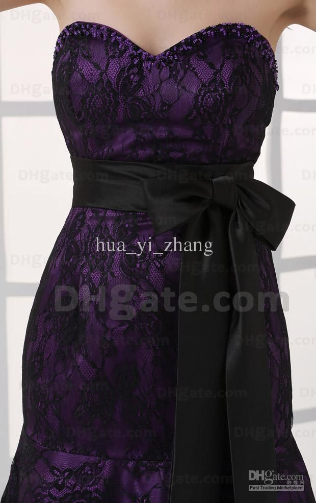 Purple And Black Lace Wedding Dress - Amore Wedding Dresses