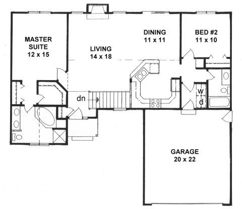 Plan 1218 2 split bedroom ranch house plans pinterest 2 bedroom 2 bath ranch floor plans