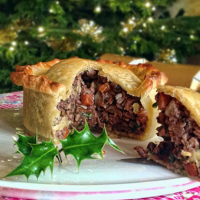 Mushroom, Pecan and Chestnut Raised Christmas Pie (Chestnuts, Onion ...
