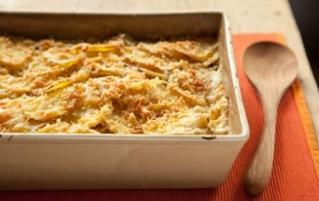 Celery Root and Potato Gratin // Serve up a decadent side dish! # ...