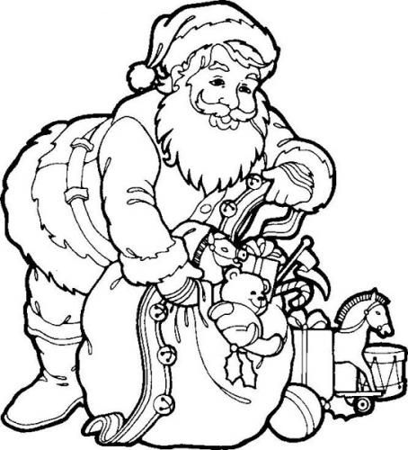 Christmas Santa Claus Coloring Pages Free Printable Easy Coloring Pages Santa