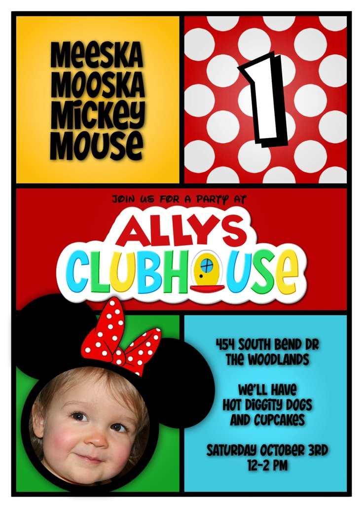 Mickey Mouse 2Nd Birthday Invitations as luxury invitations sample