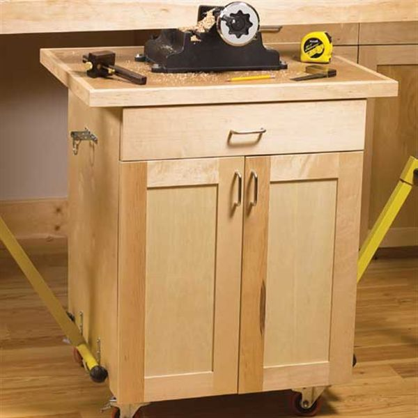 3 mobile carts downloadable plan wood shop ideas for Woodworking cart