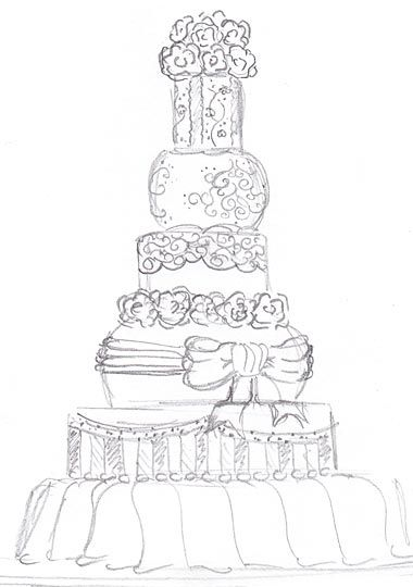 sketch of the perfect cake! Tangle & Draw Pinterest
