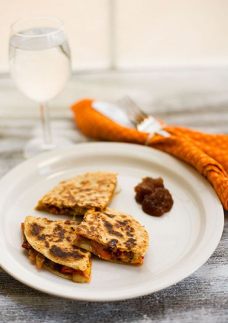 Tandoori Chicken Quesadillas | Food with Feet | Pinterest