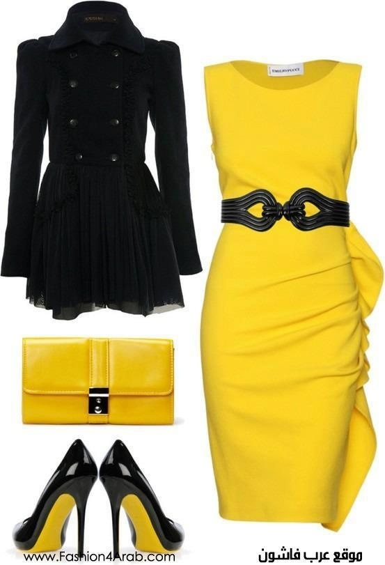 Yellow and black outfit | Yellow and Black | Pinterest