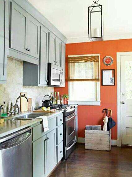 Best Grey And Orange Kitchen Home Sweet Home 400 x 300