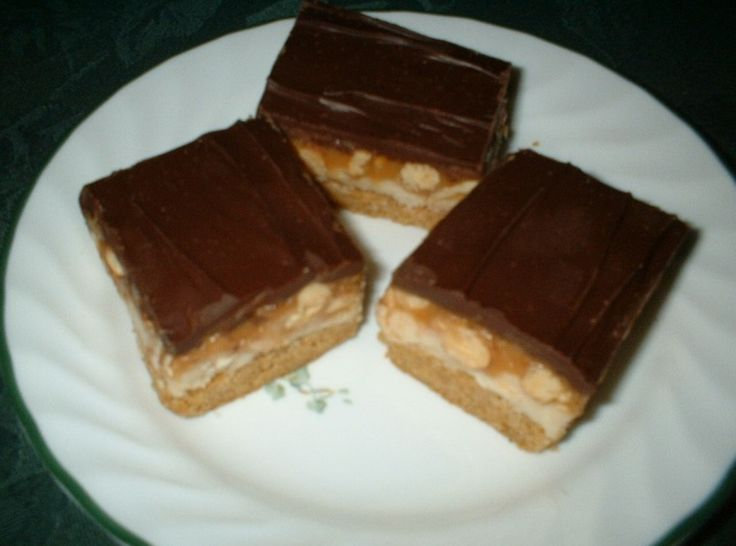 Peanut Butter Cookie Candy Bars | Cookie Bar Recipes | Pinterest