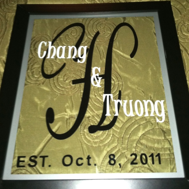 Wedding Gift Ideas Using Cricut : Wedding gift idea. Cut vinyl letters using cricut. Place in floating ...