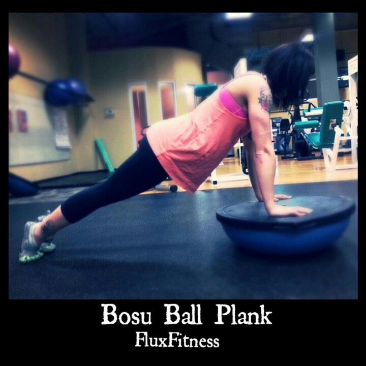 Plank Using Fit Ball And Bosu Ball: Bosu Ball Plank. Core Workout