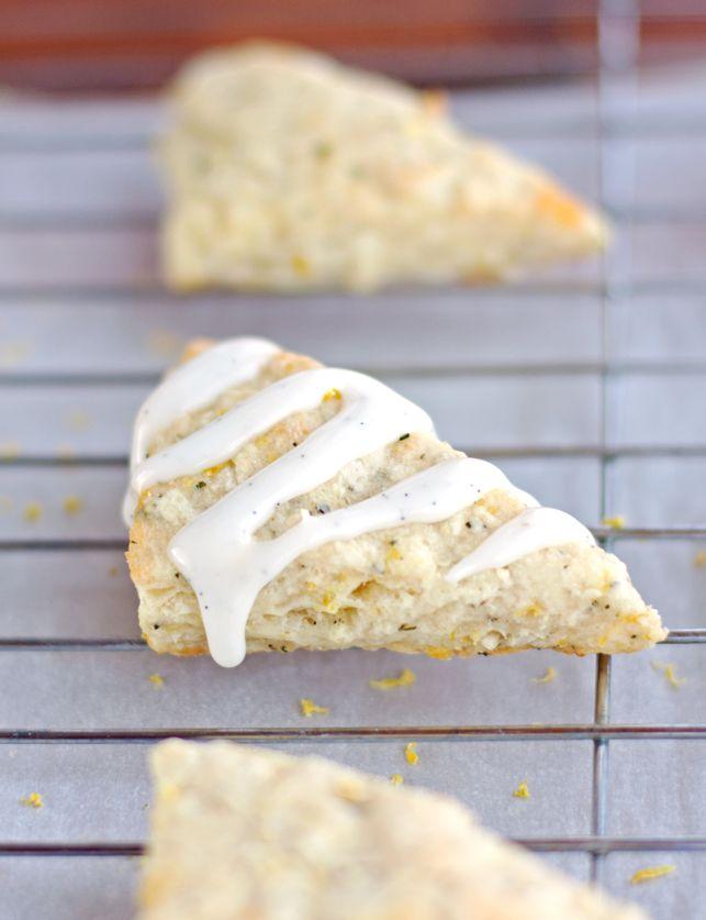 Lemon Rosemary Scones with Vanilla Bean Glaze - 2Teaspoons