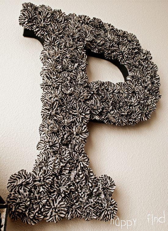 Letter wreath tutorial