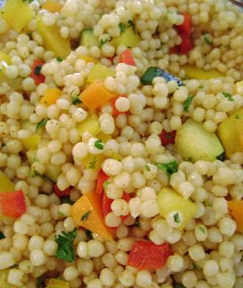 Jo and Sue: Israeli Couscous Salad. I added two spring onions sauteed ...