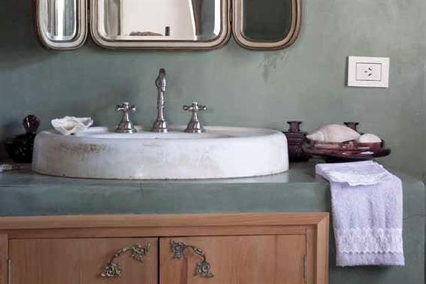 Baño En Microcemento:en baño