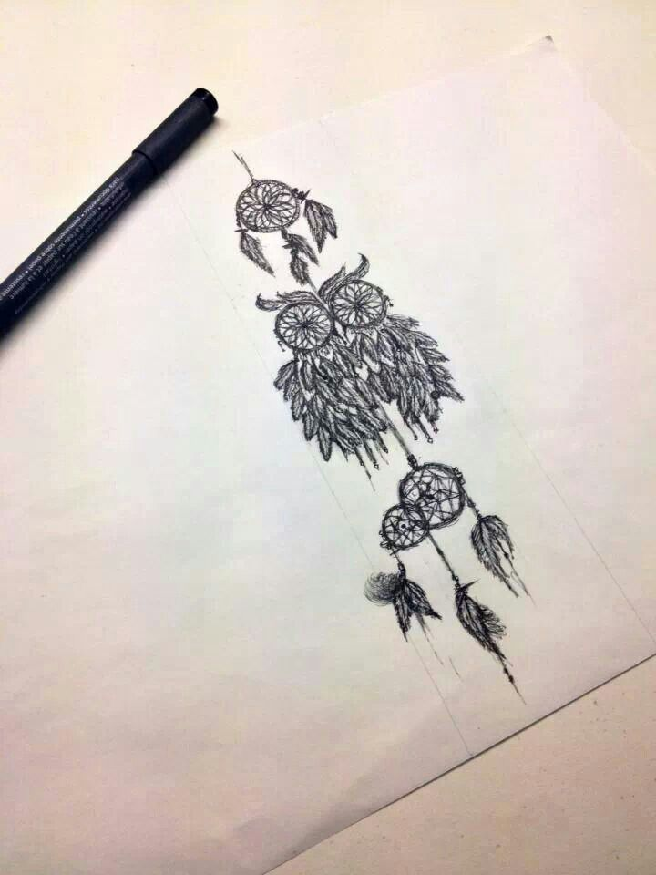 Owl dreamcatcher drawing - photo#9