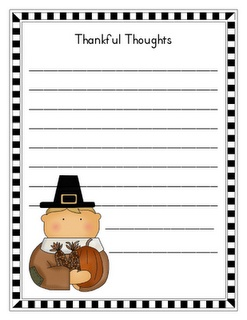 Thanksgiving Writing Prompt Worksheets