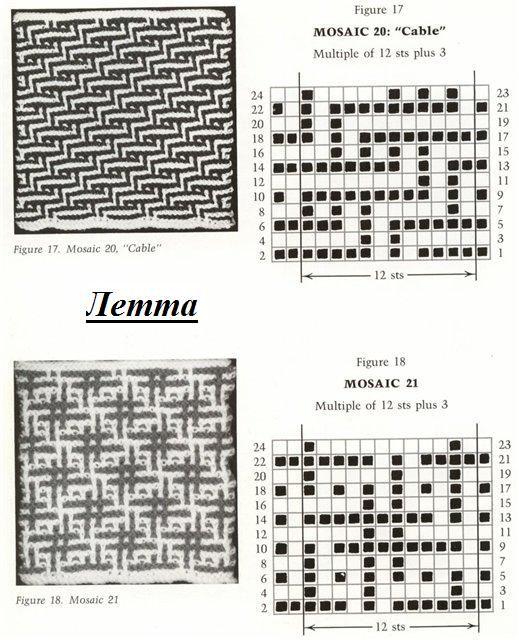 Вязание и схемы ленивого жаккарда 167