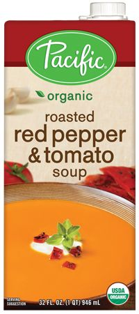 Roasted Red Pepper & Tomato Soup- Half the sugar of Campell's Tomato ...