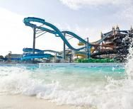 Schlitterbahn water park is in New Braunfels near San Antonio!! It looks like it has awesome rides and is kid friendly but they also have a heated pool with a swim up bar!! Yay!! Grown up fun too!!