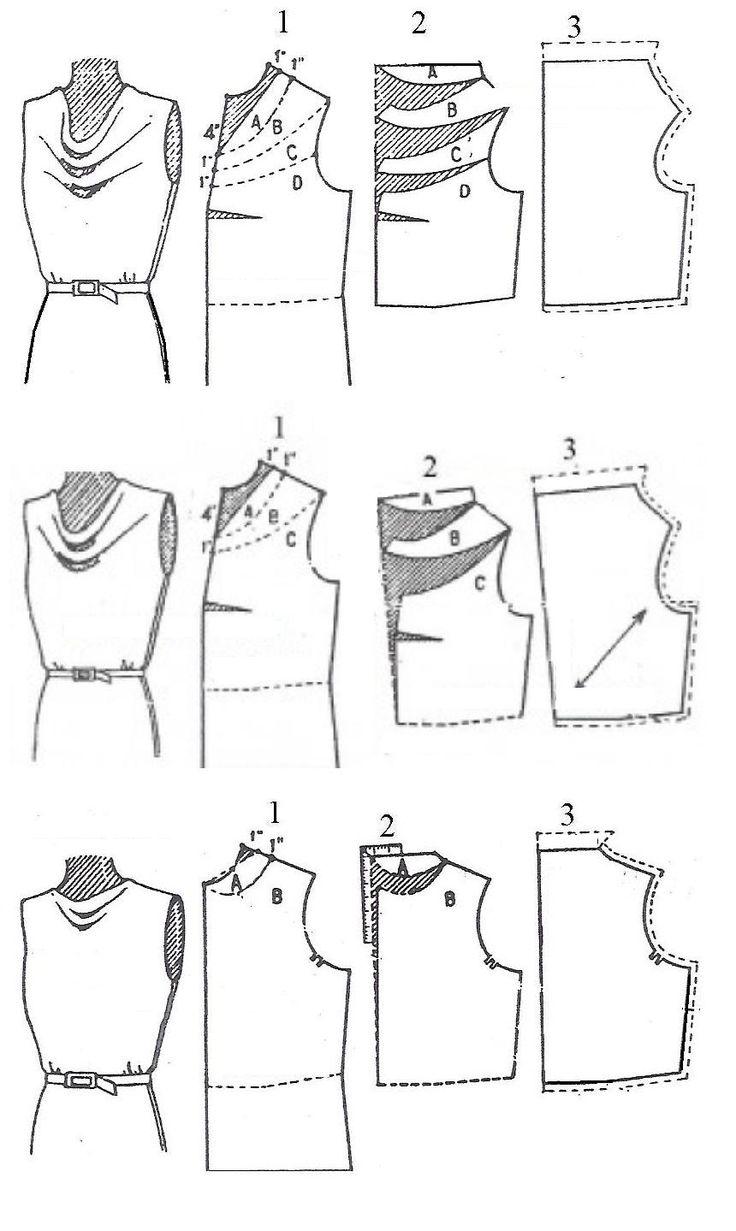 Как сшить блузку водопадом 62