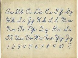 Cursive writing ~Old School