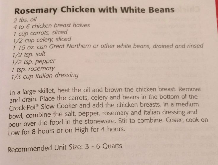 Rosemary chicken with white beans | crockpot | Pinterest