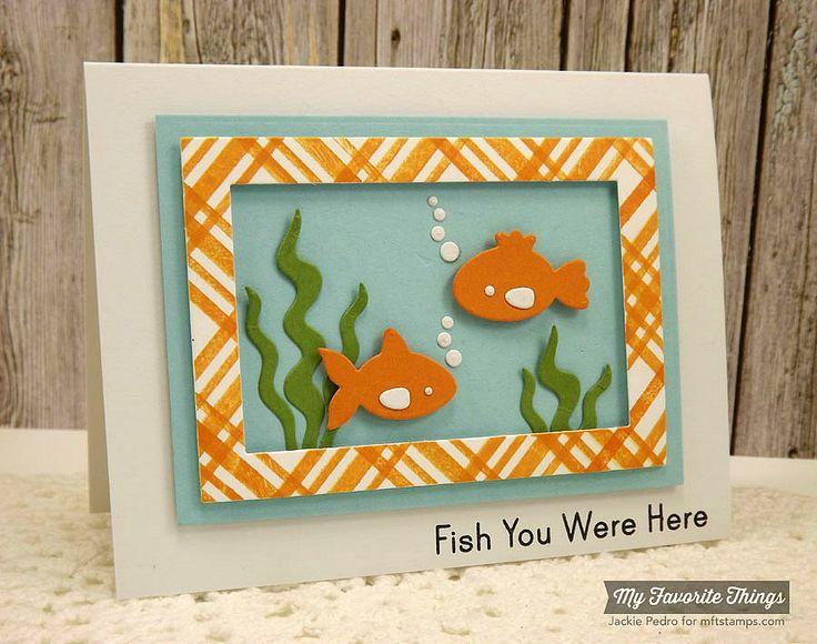 Plaid Background Builder, You're Fin-tastic, Fishbowl Die-namics, Rectangle Frames Die-namics - Jackie Pedro #mftstamps