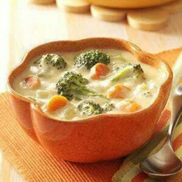 Broccoli cheese soup | Food & Drink | Pinterest