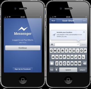 facebook messenger iphone ipad
