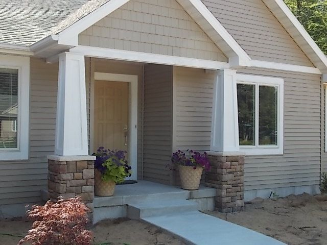 Tapered craftsman columns the home pinterest for Tapered porch columns