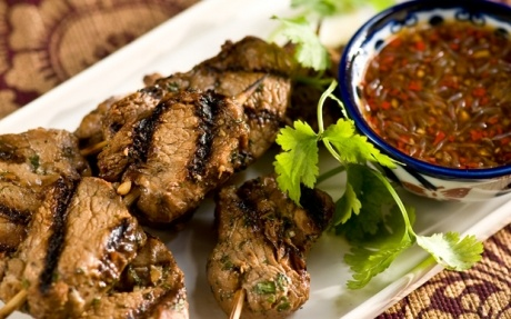 Grilled Pork Skewers with Chilli Sauce | Food