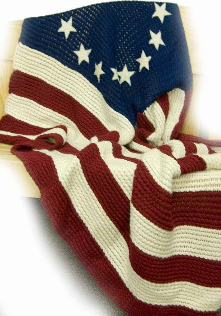 Free Loom Knitting Patterns For Blankets : The Knifty Knitter: Flag Blanket Crafts Pinterest