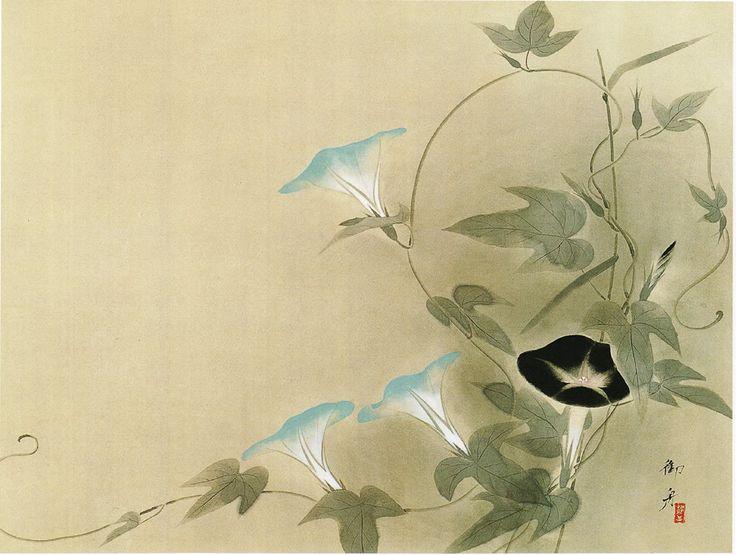 Hayami Gyoshū, 牽牛花, 1933, メナード美術館蔵
