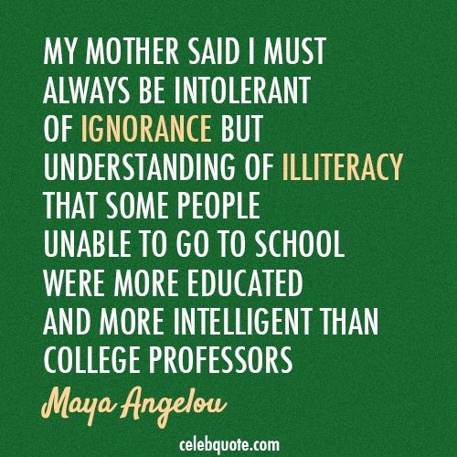 Maya Angelou Quotes About Mother's