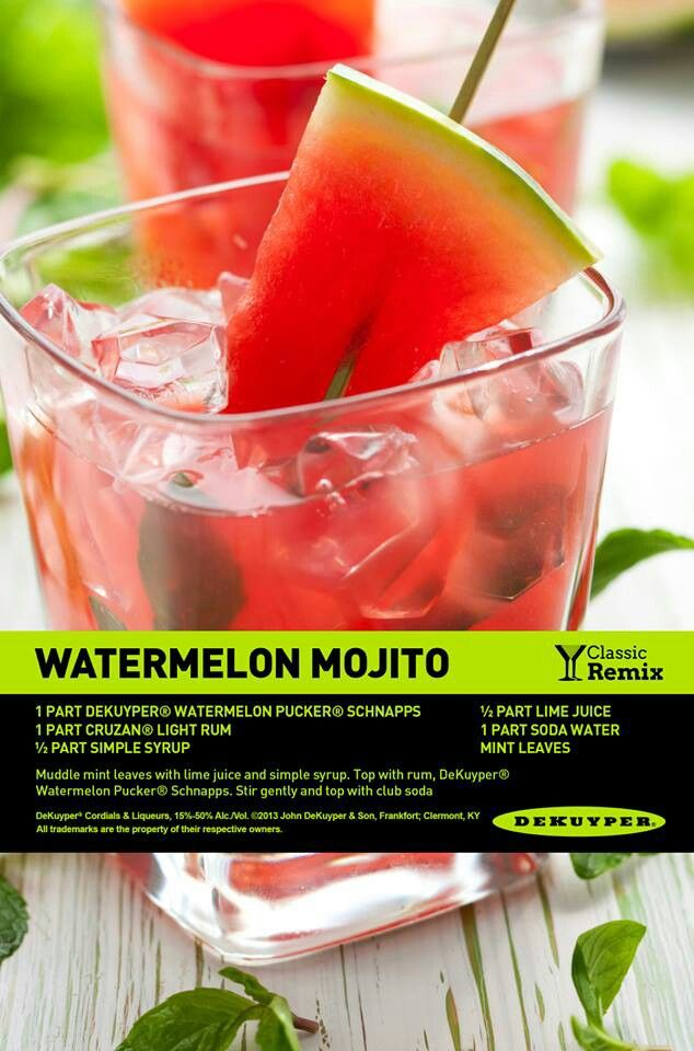 Watermelon Mojito | Let's get this PARTY started!!! | Pinterest